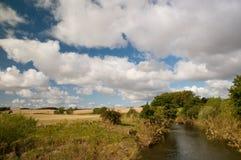 Por el río en Northumberland Imagenes de archivo