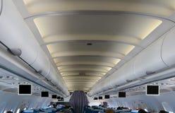 Por encima interior del aeroplano Foto de archivo libre de regalías