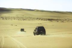 4 por 4 estradas do deserto de Siwa Fotografia de Stock Royalty Free