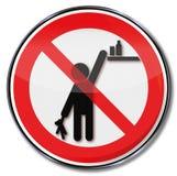 Por favor mantenga los productos fuera del alcance de niños Imágenes de archivo libres de regalías