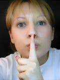 Por favor para o silêncio Fotos de Stock