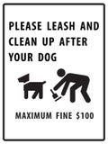 Por favor a trela e limpa após seu sinal do cão ilustração do vetor