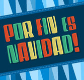 Por fin es navidad - Christmas is finally here spanish text Stock Photo