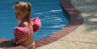 Por la cara de la piscina Imagenes de archivo