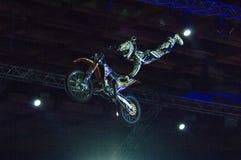 Por la moto Fotografía de archivo