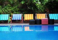 Por la piscina Fotos de archivo libres de regalías