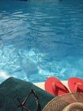 Por la piscina Imagen de archivo libre de regalías