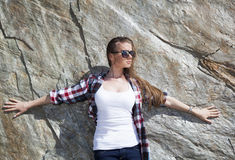 Por la roca Fotografía de archivo