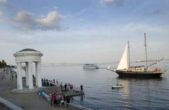 Por la tarde en el Volga Foto de archivo libre de regalías