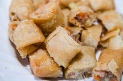 Por Pieer Tod (petit pain de ressort thaïlandais) sur le plat Image stock