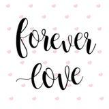Por siempre amor Día feliz del `s de la tarjeta del día de San Valentín libre illustration