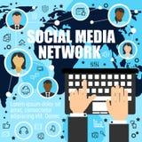Por todo el mundo socializando mediante medios red libre illustration