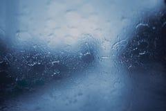 Pora deszczowa deszczu burzy przedniej szyby chłodno chłód zdjęcia stock