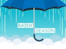 Pora deszczowa parasola chmury nieba wektor Zdjęcia Royalty Free