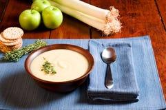 pora jabłczana zupy fotografia royalty free