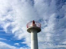 Porada latarnia morska i niebieskie niebo Obraz Royalty Free