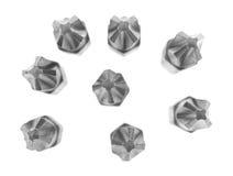 Porady Phillips przewodzą śrubokrętów kawałki na białym tle obrazy stock