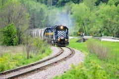 porannym pociągiem zdjęcia stock