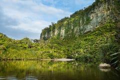 Porarari River in New Zealand. Porarari River in Punakaiki, New Zealand Stock Photography