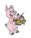 Porc étant un porc Image libre de droits