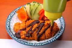 Porc asiatique de cuisine Photographie stock libre de droits