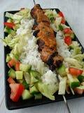 Porc avec de la sauce satay Photographie stock