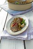 Porc avec des légumes Photographie stock