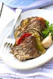 Porc avec des légumes Photo libre de droits