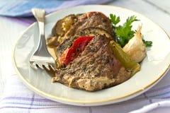 Porc avec des légumes Photographie stock libre de droits