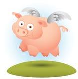Porc avec l'aile Image stock