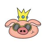 porc avec le plat illustration de vecteur