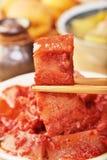 Porc braisé avec de la levure rouge Photographie stock libre de droits