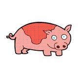 porc comique de bande dessinée Photo stock
