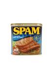 Porc coupé par Spam avec du jambon Photos libres de droits