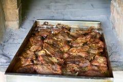 Porc cuit au four délicieux Photos libres de droits