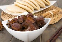 Porc cuit par rouge Photo stock