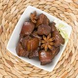 Porc cuit par rouge Photos stock