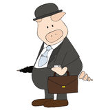 Porc d'affaires. Images libres de droits