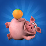 Porc d'amusement - illustration 3D Photos stock
