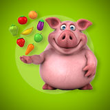 Porc d'amusement - illustration 3D Image stock