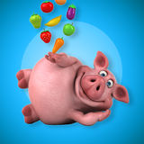 Porc d'amusement - illustration 3D Photo stock