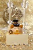 Porc d'an neuf heureux Photos stock