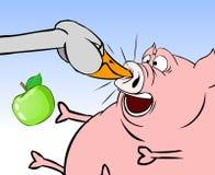 porc de 2 oies Images libres de droits