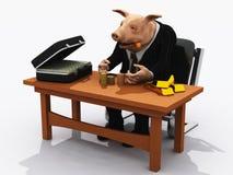 Porc de banquier Photographie stock