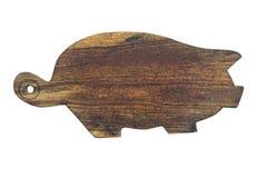 Porc de conseil en bois d'isolement Photo libre de droits
