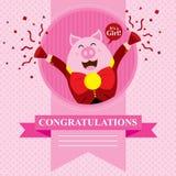 Porc de fête de naissance Image stock