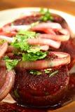 Porc de four avec du vin Image stock