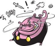 Porc de route Image stock