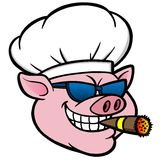 Porc de tabagisme de BBQ illustration libre de droits