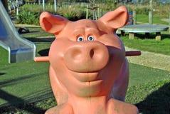 Porc de terrain de jeu Photos libres de droits